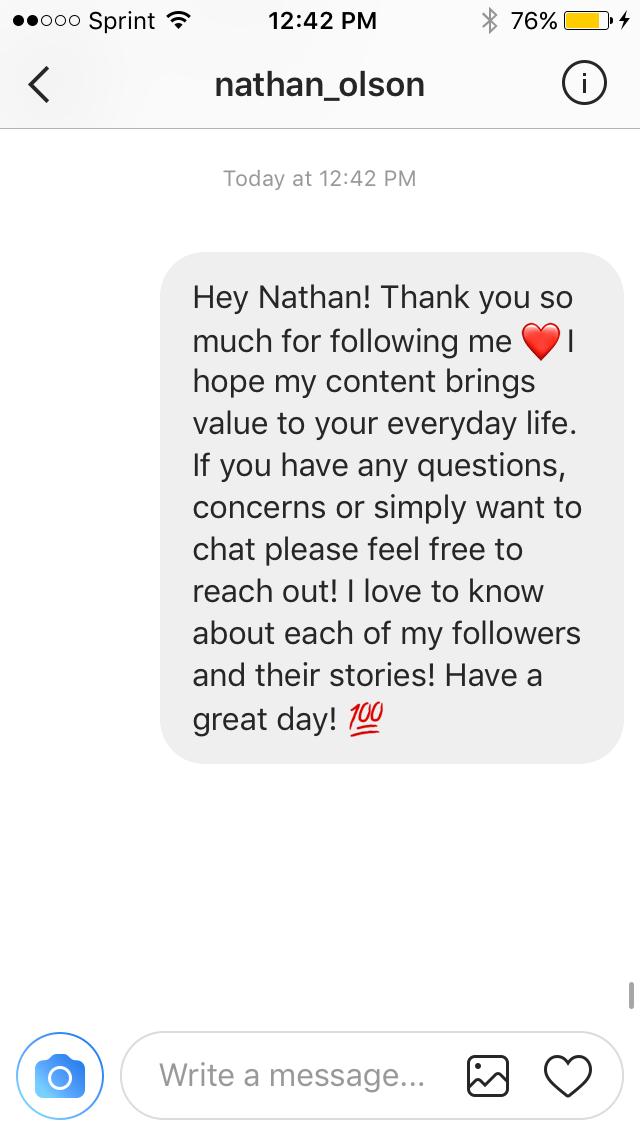 Instagram's Direct Message