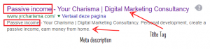 Meta description yrcharisma keyword