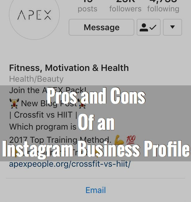 Pros and Cons of Instagram Business Profile