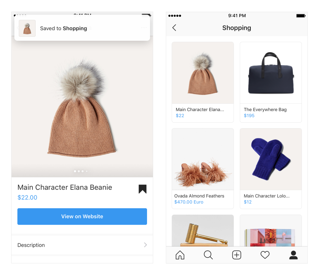 instagram shoppable feed